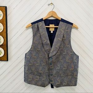 Wah Maker Frontier USA Made Paisley Western Vest